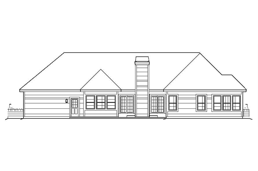 138-1197: Home Plan Rear Elevation