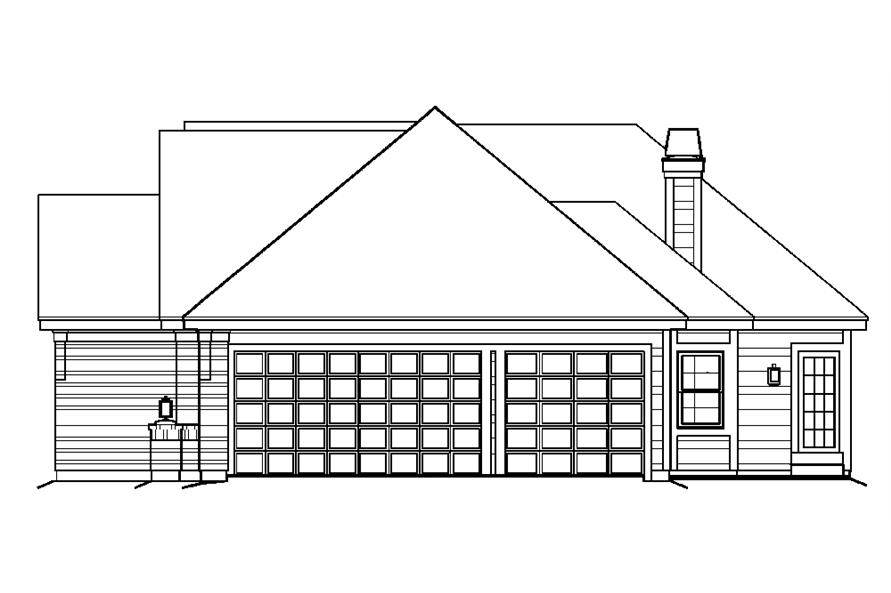 138-1197: Home Plan Right Elevation