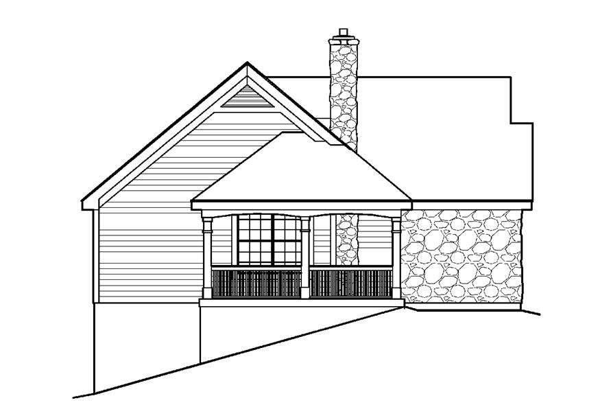 138-1198: Home Plan Left Elevation