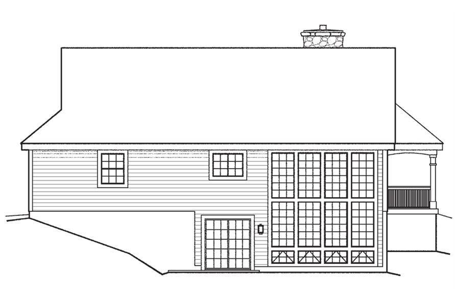 138-1198: Home Plan Rear Elevation
