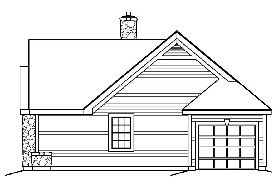 138-1198: Home Plan Right Elevation