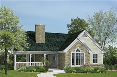 2-Bedroom, 1114 Sq Ft Country Home Plan - 138-1198 - Main Exterior