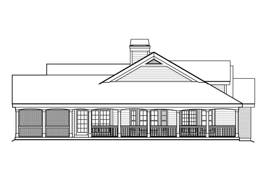 138-1199: Home Plan Left Elevation