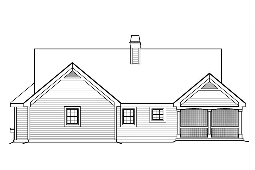 138-1199: Home Plan Rear Elevation