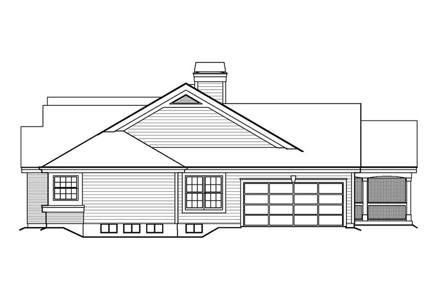 138-1199: Home Plan Right Elevation