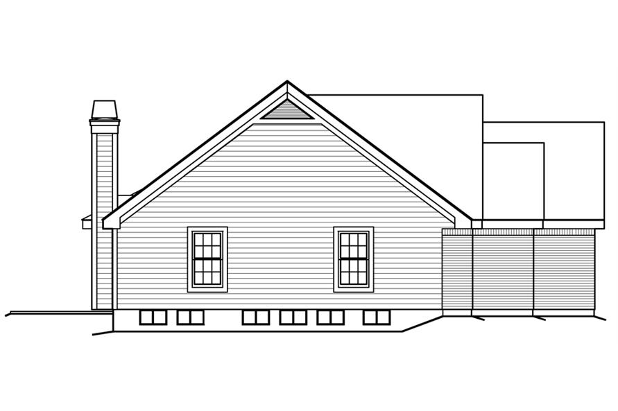 138-1200: Home Plan Left Elevation