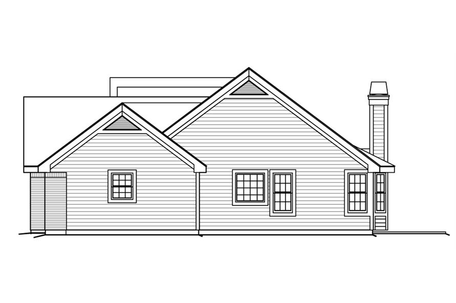 138-1200: Home Plan Right Elevation