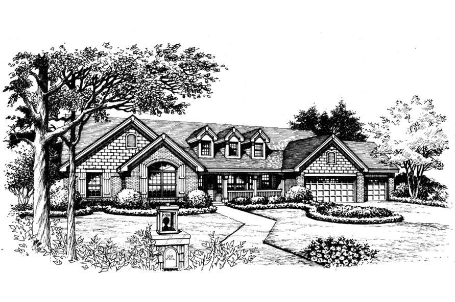 138-1200: Home Plan Rendering