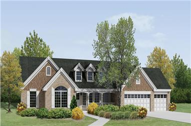 4-Bedroom, 2322 Sq Ft Country Home Plan - 138-1200 - Main Exterior