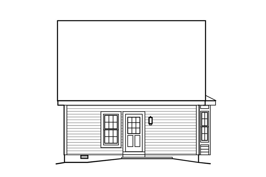 138-1201: Home Plan Rear Elevation