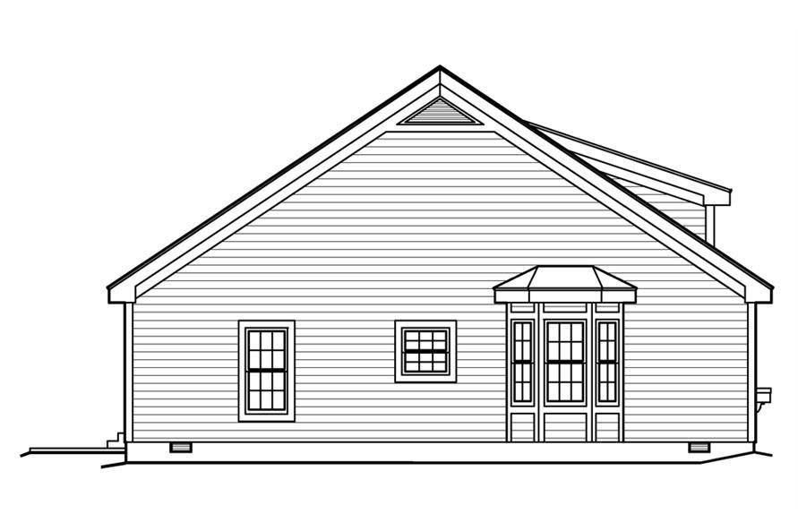 138-1201: Home Plan Left Elevation
