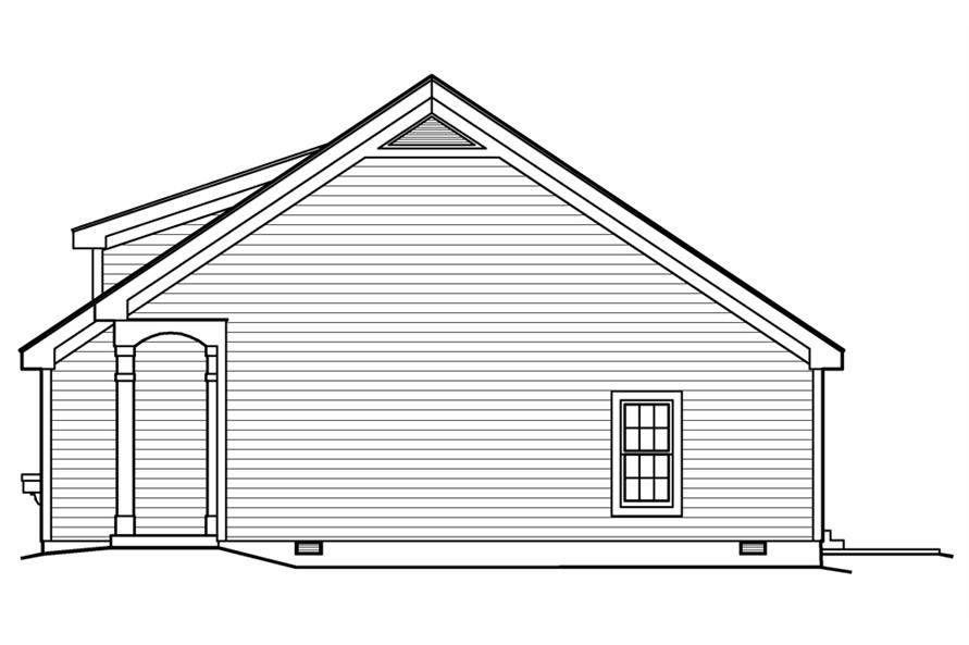 138-1201: Home Plan Right Elevation