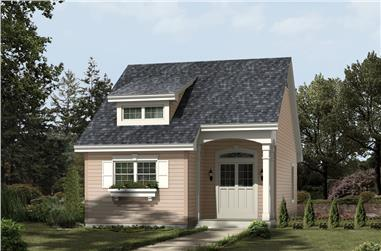 2-Bedroom, 882 Sq Ft Cottage Home Plan - 138-1201 - Main Exterior