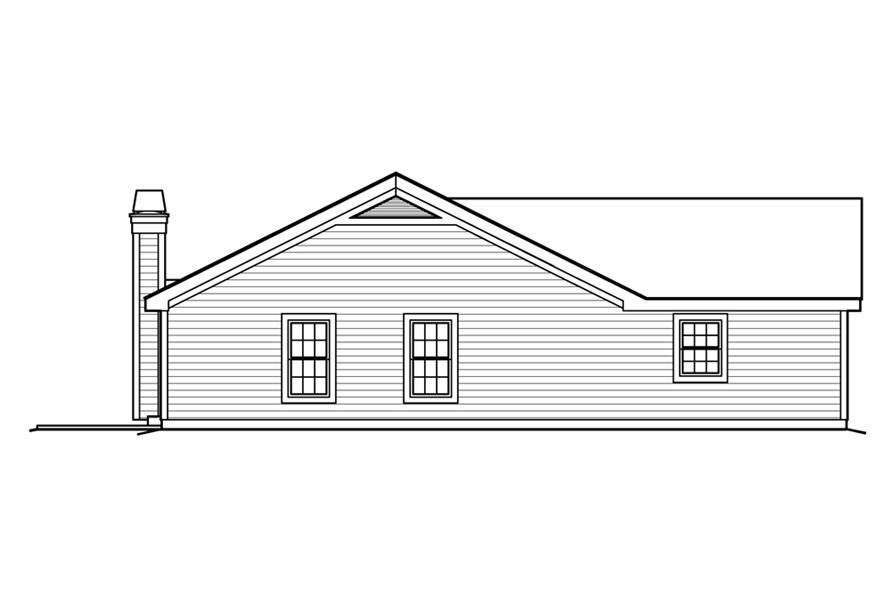 138-1202: Home Plan Left Elevation