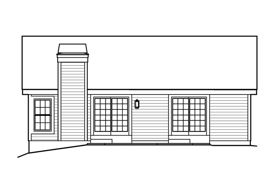 138-1202: Home Plan Rear Elevation