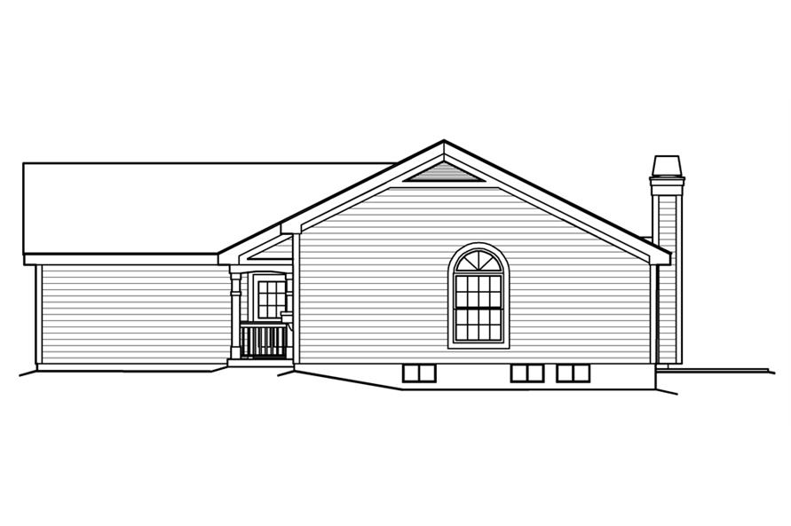 138-1202: Home Plan Right Elevation