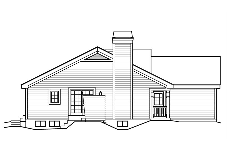138-1203: Home Plan Left Elevation