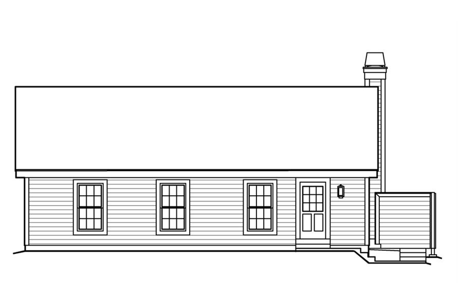 138-1203: Home Plan Rear Elevation