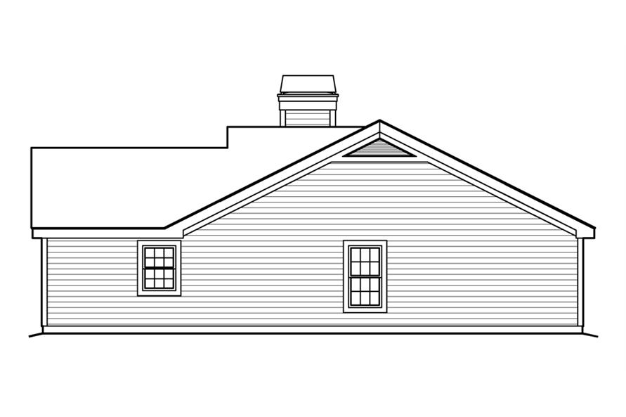 138-1203: Home Plan Right Elevation