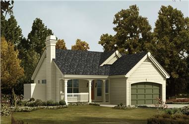 4-Bedroom, 1203 Sq Ft Ranch Home Plan - 138-1203 - Main Exterior