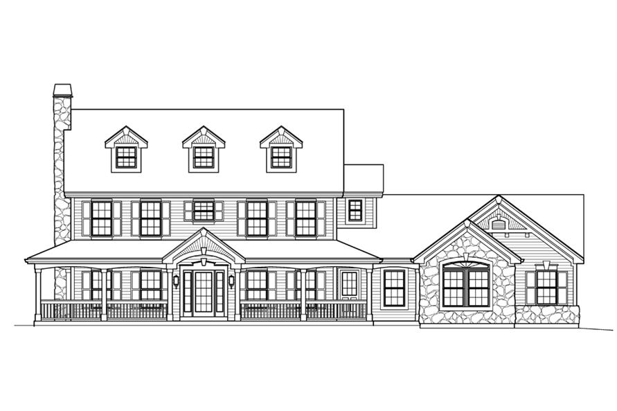 138-1204: Home Plan Front Elevation