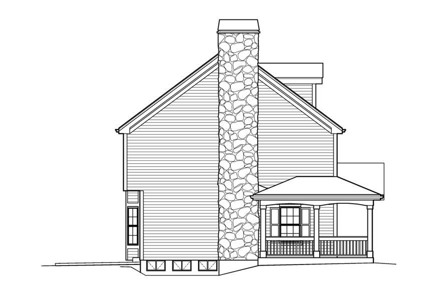 138-1204: Home Plan Left Elevation