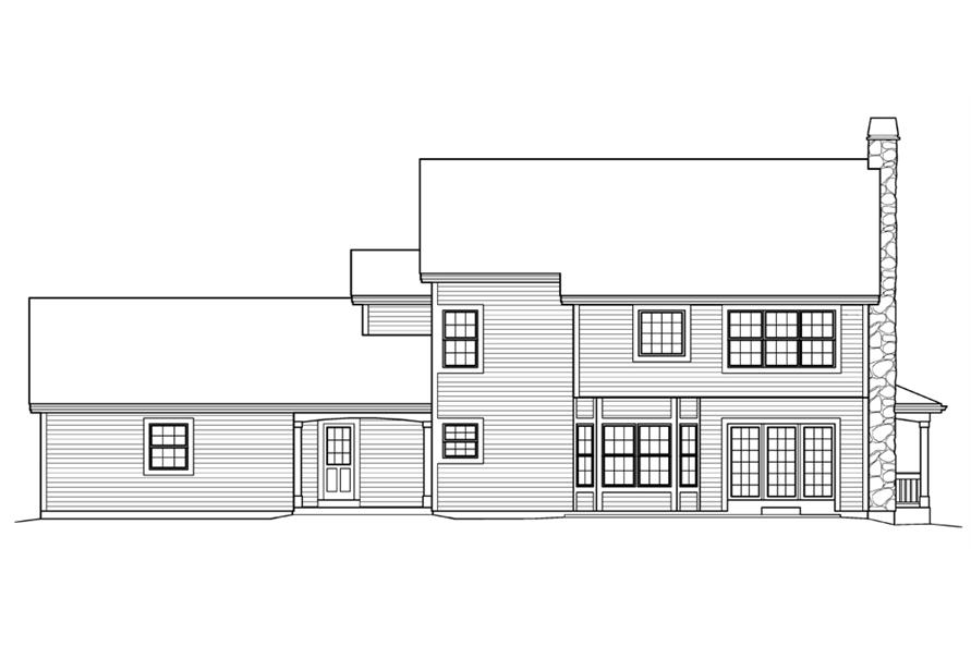 138-1204: Home Plan Rear Elevation