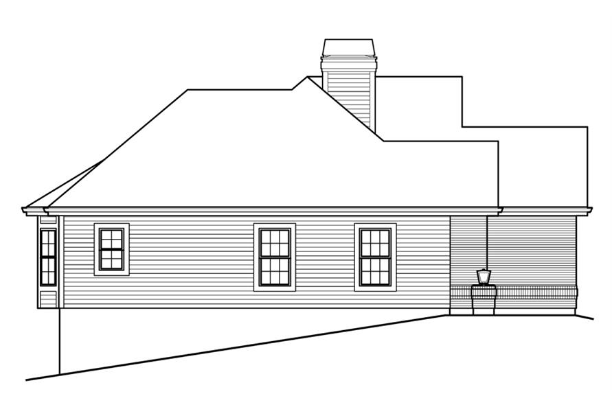 138-1205: Home Plan Left Elevation