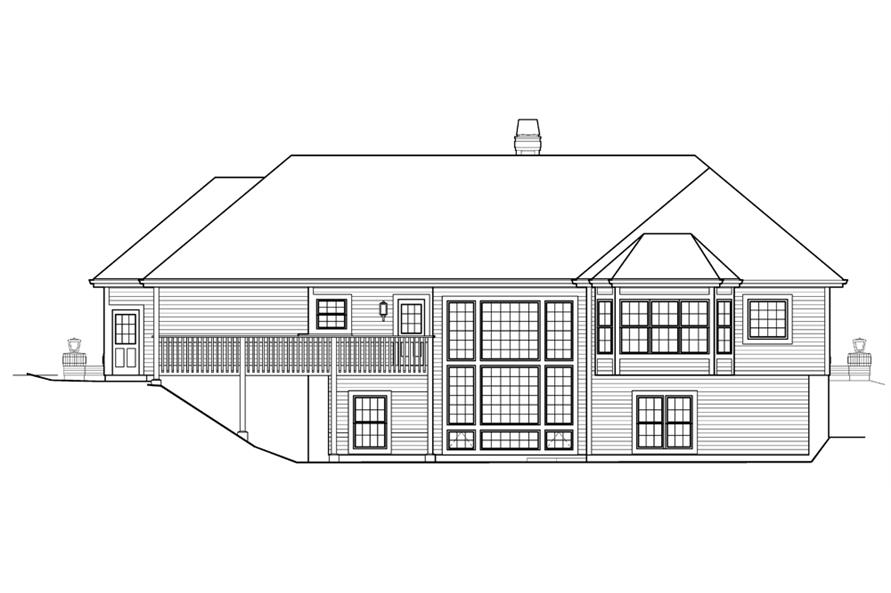 138-1205: Home Plan Rear Elevation