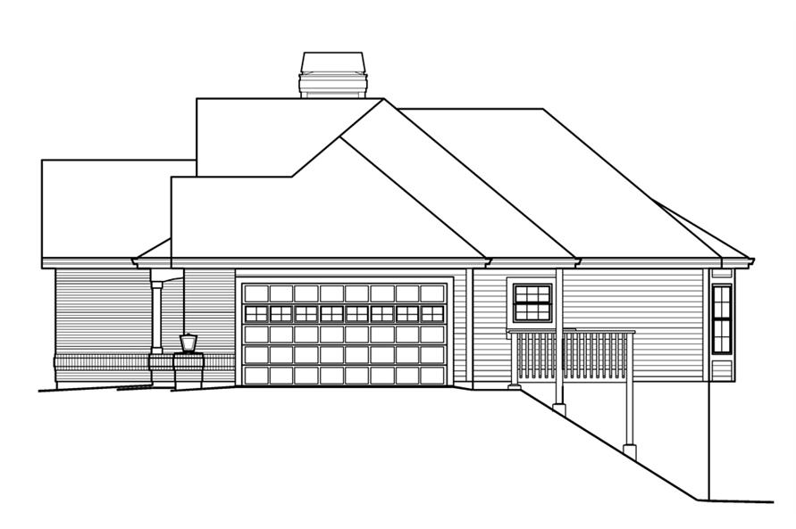 138-1205: Home Plan Right Elevation
