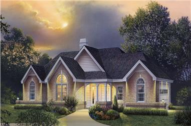 4-Bedroom, 1977 Sq Ft Country Home Plan - 138-1205 - Main Exterior