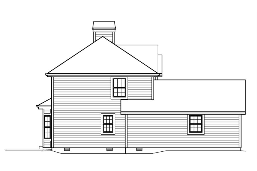 Home Plan Left Elevation of this 3-Bedroom,3056 Sq Ft Plan -138-1206