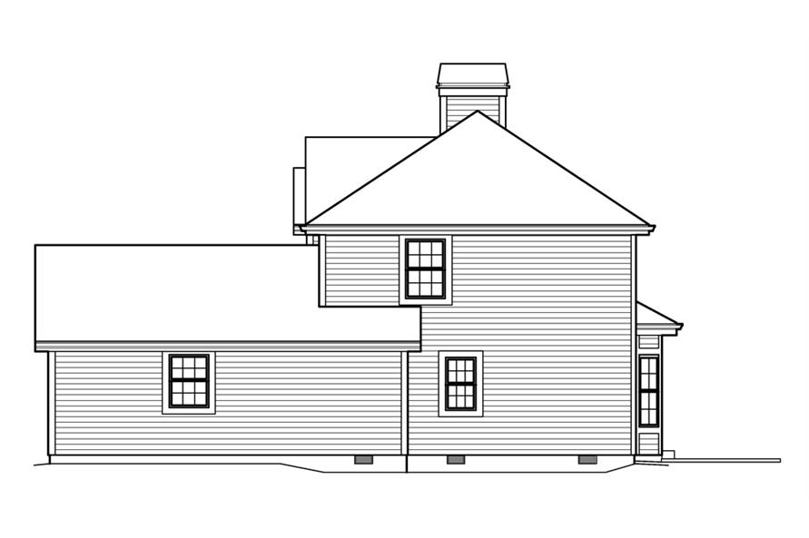 Home Plan Right Elevation of this 3-Bedroom,3056 Sq Ft Plan -138-1206