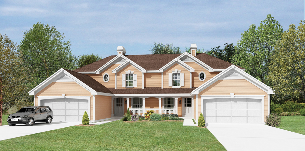 Multi unit house plan 138 1206 3 bedrm 3056 sq ft per for Multi unit house plans