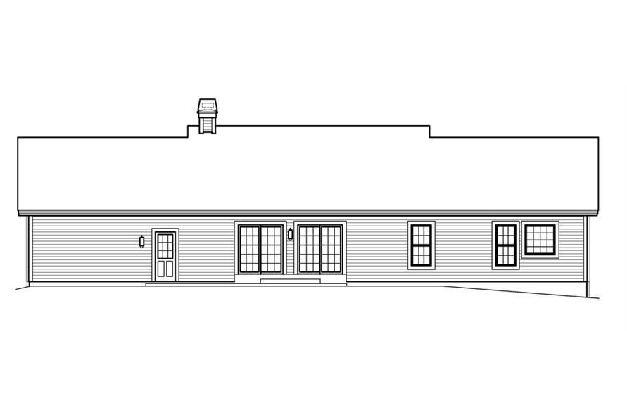 138-1207: Home Plan Rear Elevation