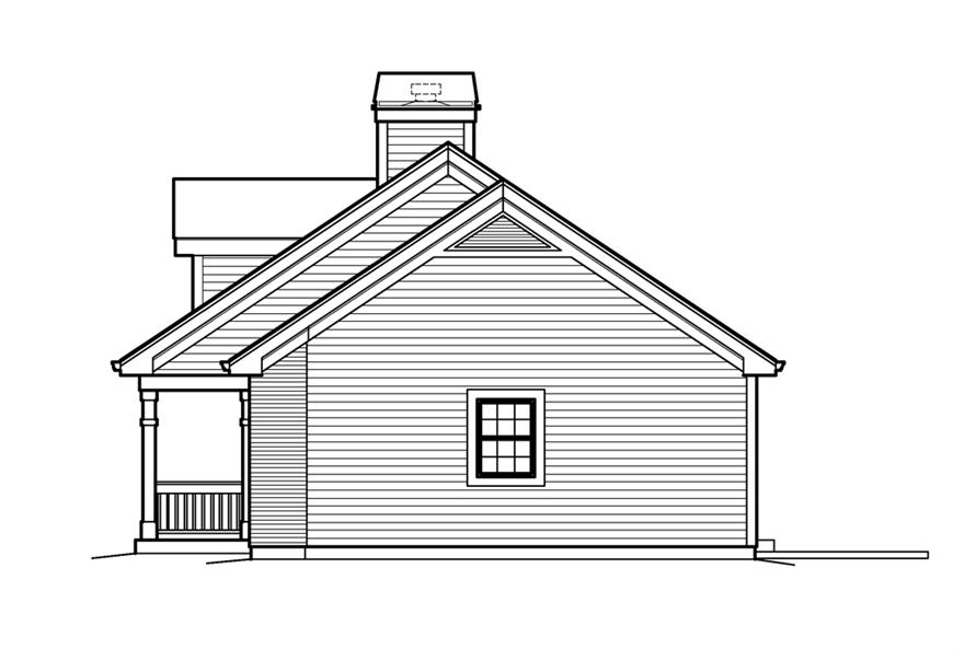 138-1207: Home Plan Right Elevation