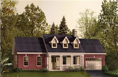 3-Bedroom, 1420 Sq Ft Ranch House Plan - 138-1207 - Front Exterior