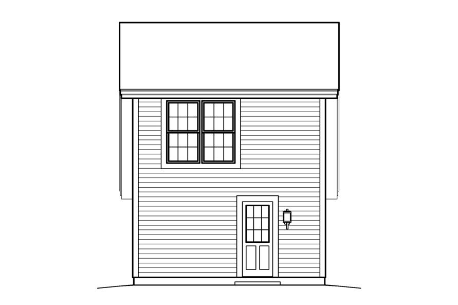 138-1208: Home Plan Rear Elevation