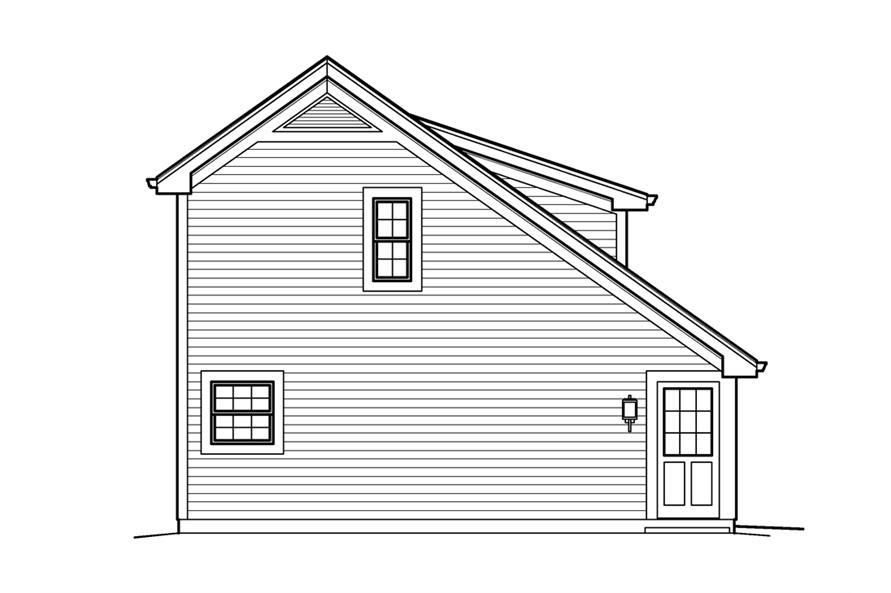 138-1208: Home Plan Left Elevation