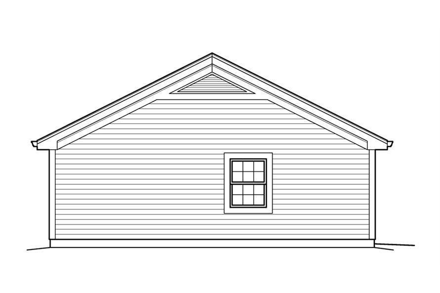 Home Plan Left Elevation of this 1-Bedroom,421 Sq Ft Plan -138-1209