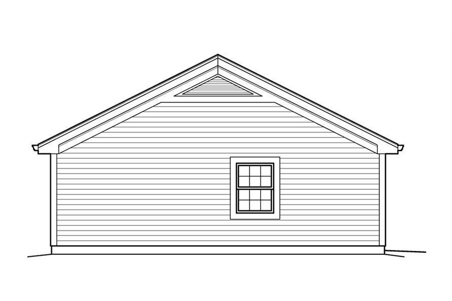 138-1209: Home Plan Left Elevation