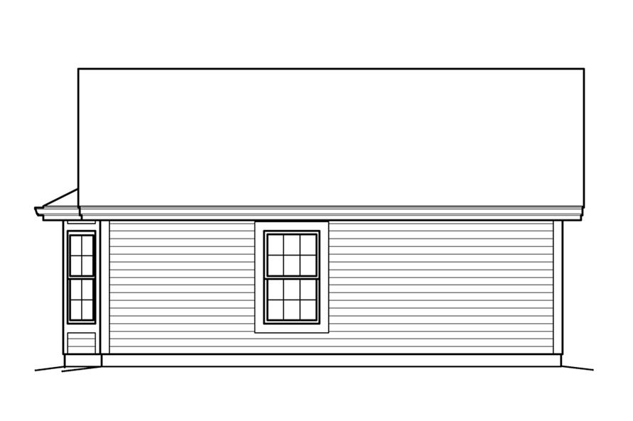 Home Plan Rear Elevation of this 1-Bedroom,421 Sq Ft Plan -138-1209