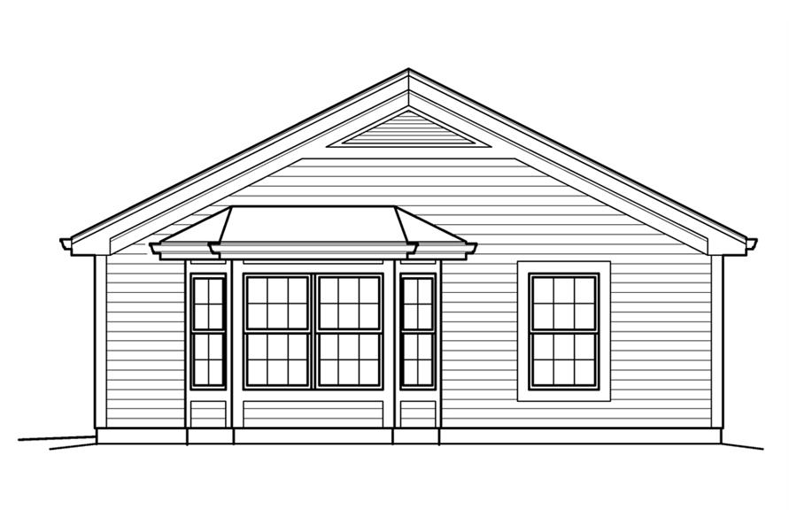Home Plan Right Elevation of this 1-Bedroom,421 Sq Ft Plan -138-1209