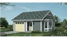 Front elevation of Cottage home (ThePlanCollection: House Plan #138-1209)