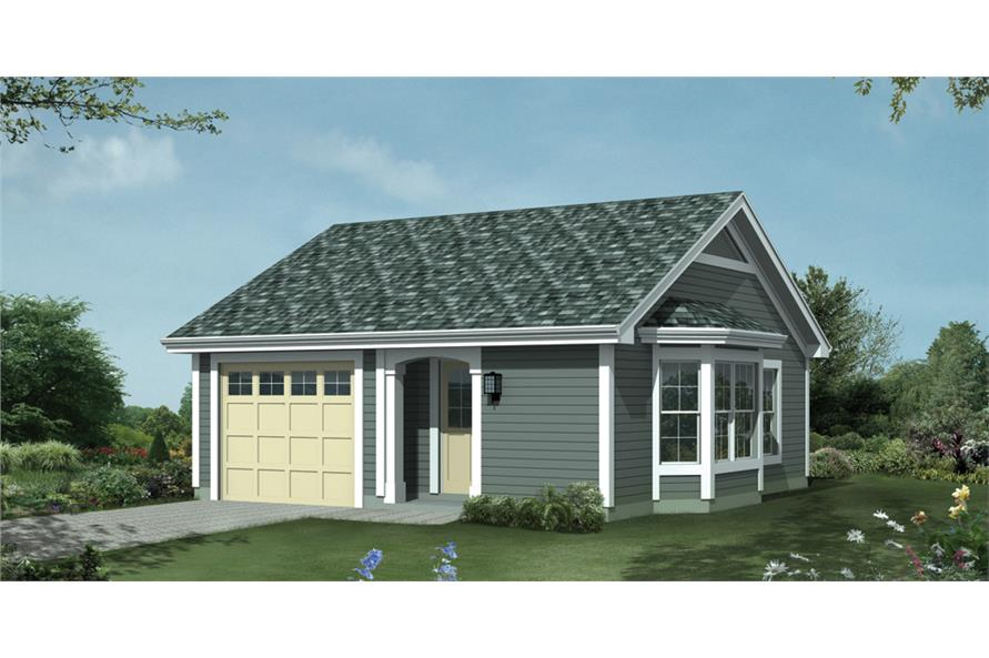 1-Bedroom, 421 Sq Ft Cottage House Plan - 138-1209 - Front Exterior