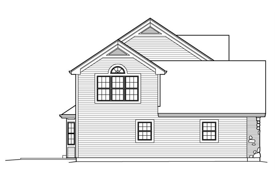 138-1210: Home Plan Left Elevation