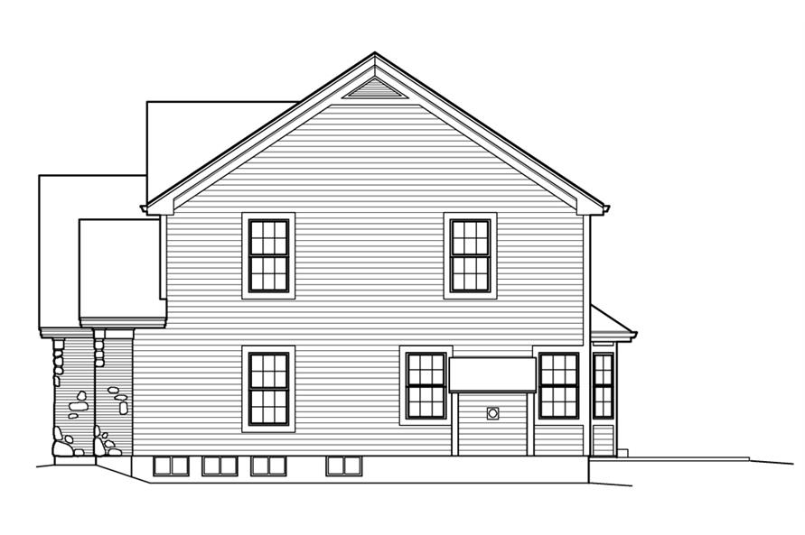 138-1210: Home Plan Right Elevation