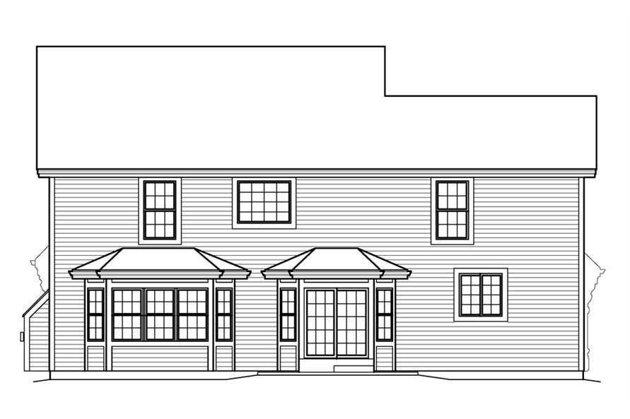 138-1210: Home Plan Rear Elevation