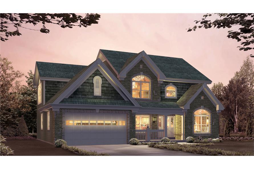 Front elevation of Country home (ThePlanCollection: House Plan #138-1210)