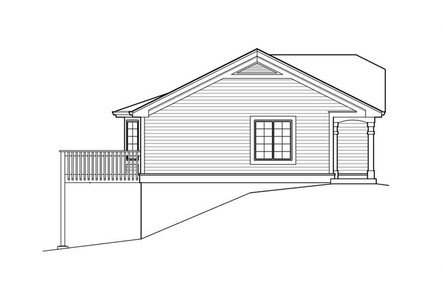 138-1211: Home Plan Left Elevation
